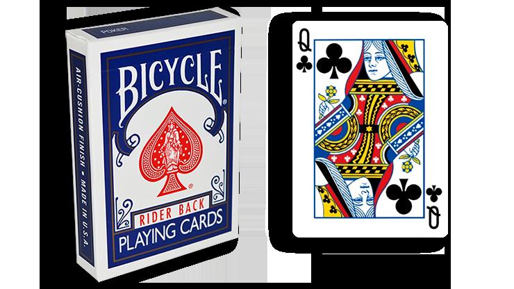 Cartas para Forzar - 1 Eleccion - Reina de Picas - Cartas Bicycle - Azul
