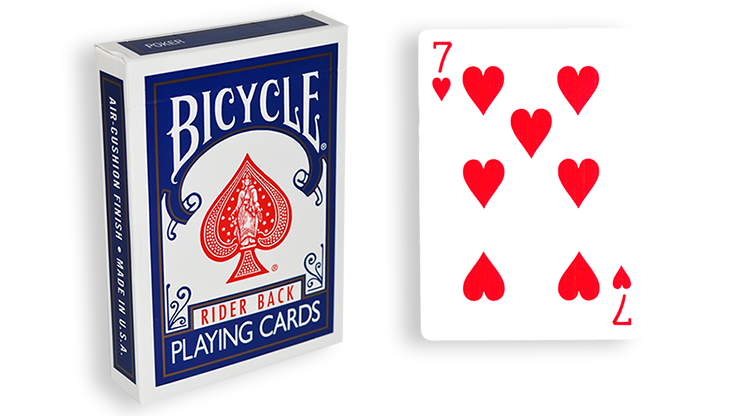 Cartas para Forzar - 1 Eleccion - 7 de Corazones - Cartas Bicycle - Azul