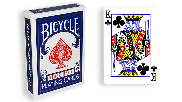 Cartas para Forzar - 1 Eleccion - Rey de Espadas - Cartas Bicycle - Azul