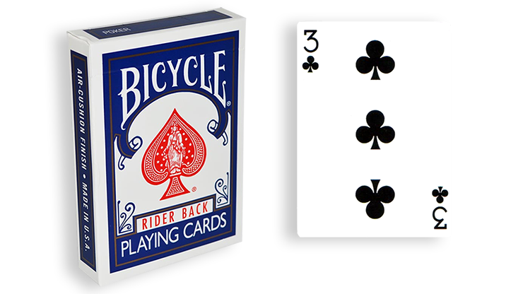 Cartas para Forzar - 1 Eleccion - 3 de Picas - Cartas Bicycle - Azul