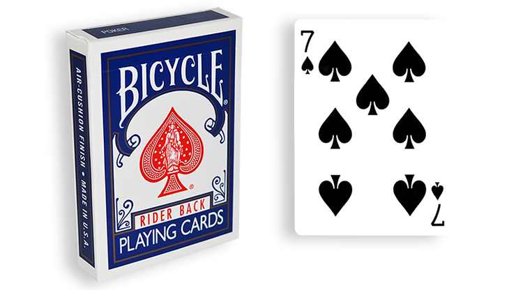 Cartas para Forzar - 1 Eleccion - 7 de Espadas - Cartas Bicycle - Azul