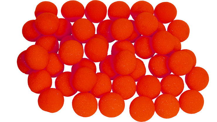 Bolas de Esponja Regular - 1 pulgadas (50 Piezas) (Rojo)