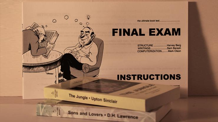 Final Exam Book Test Harvey Berg - Trick