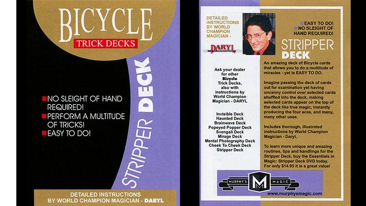Stripper Deck Cartas Bicycle - Mandolin (Rojo)