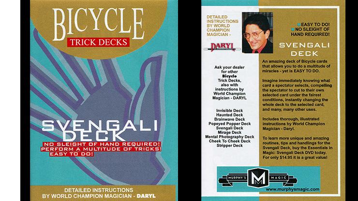 Svengali Deck Cartas Bicycle - Mandolin (Rojo)