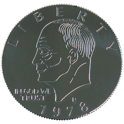 Eisenhower Palming Coin (Dollar Sized)by You Want it We Got it - Trick