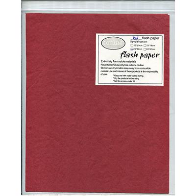 Flash Paper five pack (25 cm x 20cm) Red