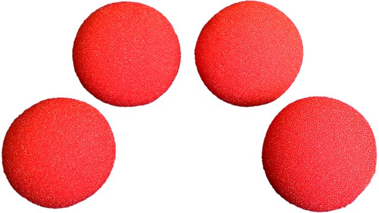 Bolas de Esponja Ultra Soft (1.5 pulgadas, Red, 4 Piezas) Magic by Goshman