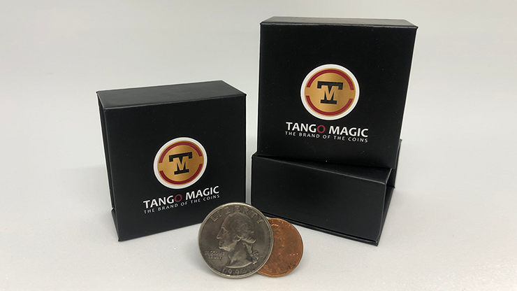 Tango Ultimate Coin (T.U.C) Quarter/Penny (D0127) with instructional DVD by Tango - Trick