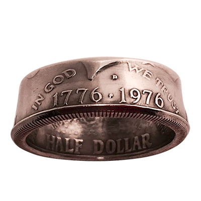 Genuine Half-Dollar Ring (12/21.49 mm)By Diamond Jim Tyler