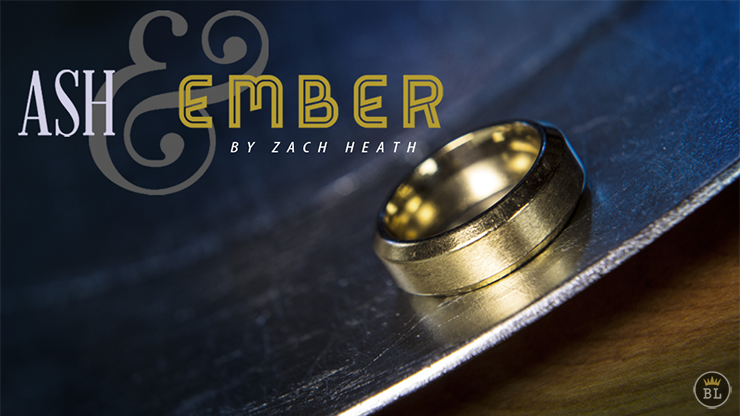 Ash and Ember Gold Beveled Size 8 (2 Rings) by Zach Heath