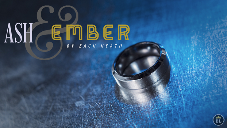 Ash and Ember Silver Beveled Size 8 (2 Rings) by Zach Heath