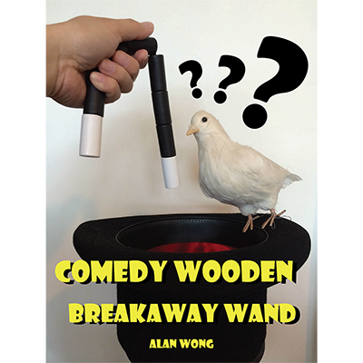 Comedy wooden breakaway wand (XL) - Alan Wong