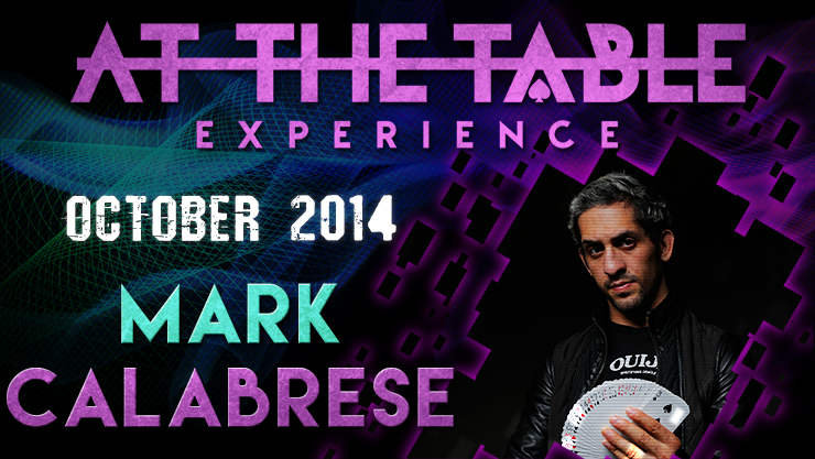 At the Table Live Lecture - Mark Calabrese 10/29/2014 - video DO