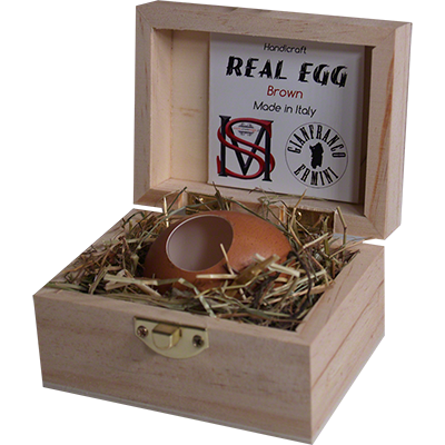 Real Egg (Brown) by Gianfranco Ermini & Stratomagic
