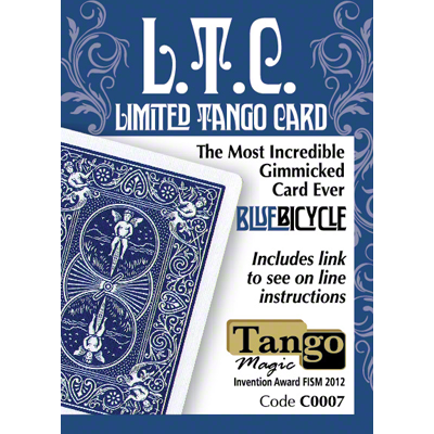Limited Tango Card Blue (T.L.C.) (C0007 ) by Tango - Trick