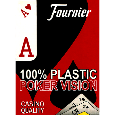 Fournier Plastic Playing Cards Large Pips (red)