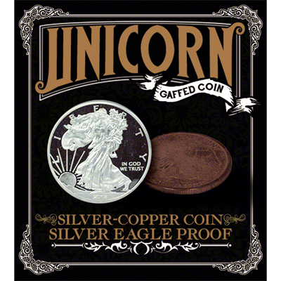 Silver - Copper coin by Unicorn Gaffed Coin - Trick