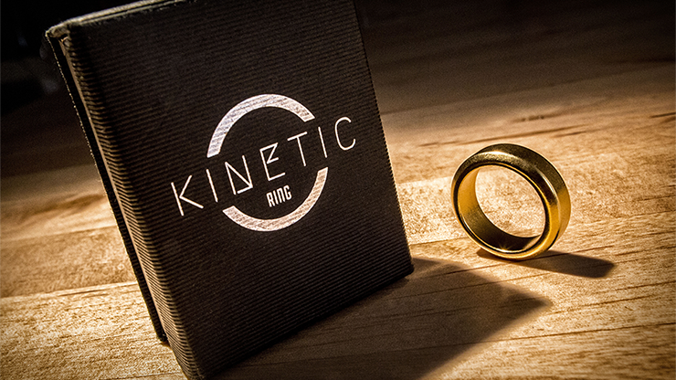 Kinetic PK Ring (Anillo Magnetico) (Gold) Beveled size 8 - Jim Trainer