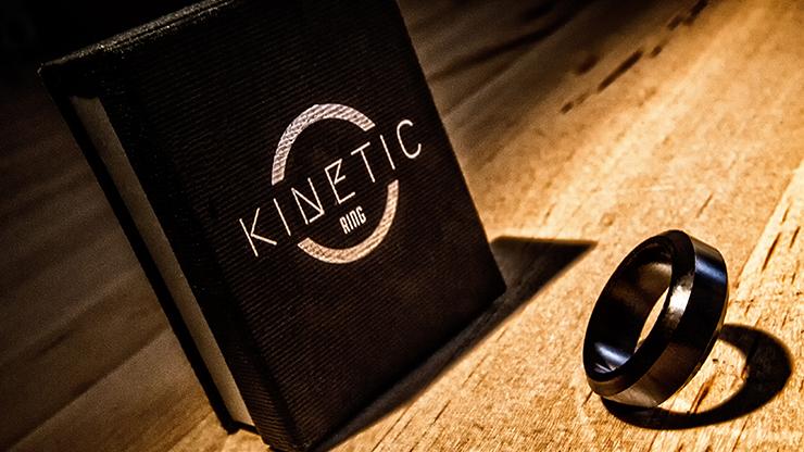 Kinetic PK Ring (Black) Beveled size 8
