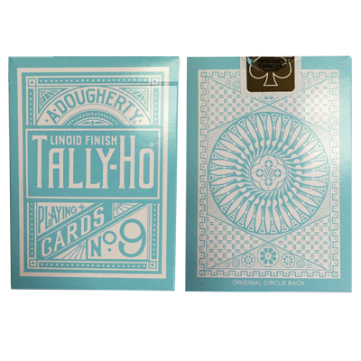 Tally Ho Reverse Circle back (Mint Azul) Limited Ed. - Aloy Studios / USPCC