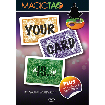 Your Card Is (DVD & Gimmick) - Grant Maidment & Magic Tao - DVD