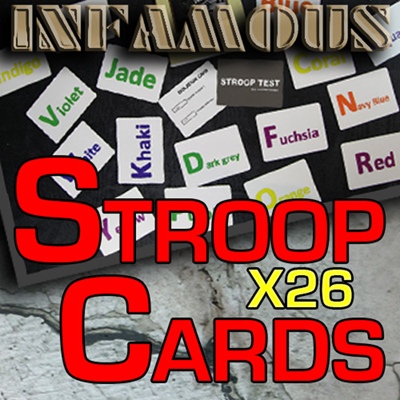 Stroop Cards (Infamous Refill) - Magic World