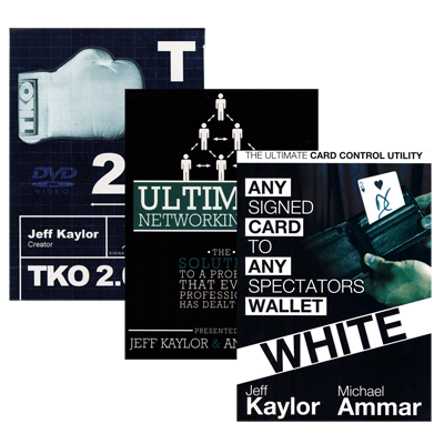 The Jeff Kaylor Sampler Pack (Includes Any Card to Any Spectator's Wallet-WHITE, TKO2.0, and The Ultimate Networking Tool)  - Trick