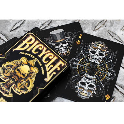 Bicycle Steampunk Deck (Black)  - Gamblers Warehouse