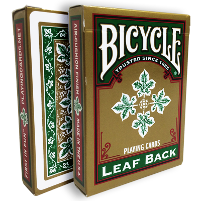 Bicycle Leaf Back Deck (Verde) - Gamblers Warehouse