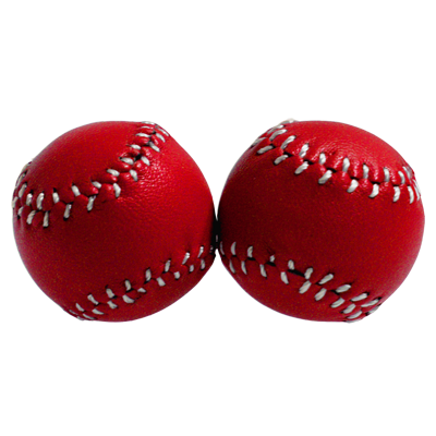 Chop Cup Balls Red Leather (Set of 2) - Leo Smesters