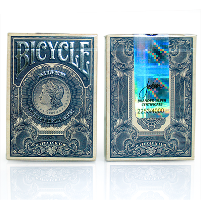 Bicycle Silver Certificate Deck by Gambler's Warehouse