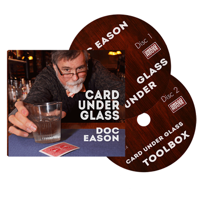 Doc Eason Card Under Glass (2 DVD set) by Kozmomagic - DVD