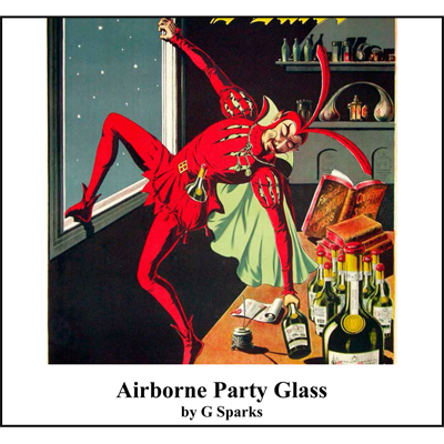Airborne Party Glass by G Sparks - Trick