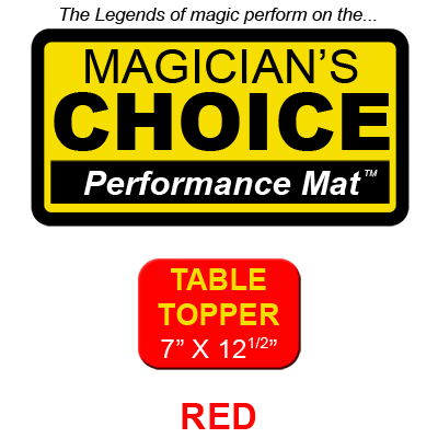 Tapete Magia Close-Up Table Topper (Rojo - 17.78 x 31.75 cm) - R