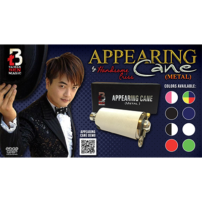 Appearing Cane (Metal / White) by Handsome Criss and Taiwan Ben Magic