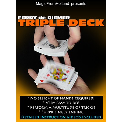 Triple Deck (Red) by Ferry De Riemer - Trick