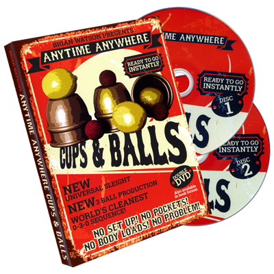 Anytime Anywhere Cups & Balls (2 DVD Set) - Brian Watson - DVD
