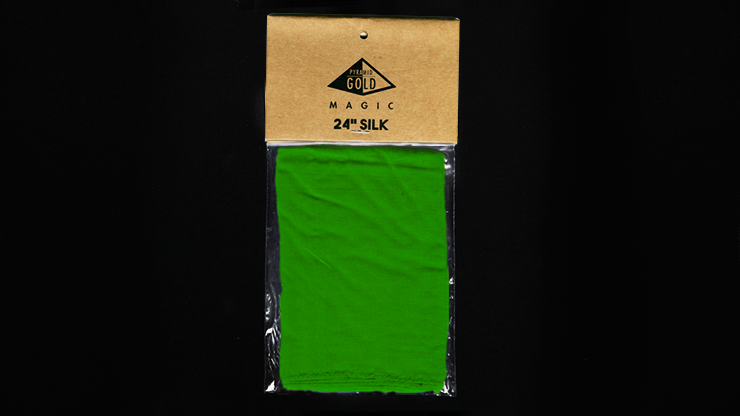 Silk 24 inch (Green) by Pyramid Gold Magic