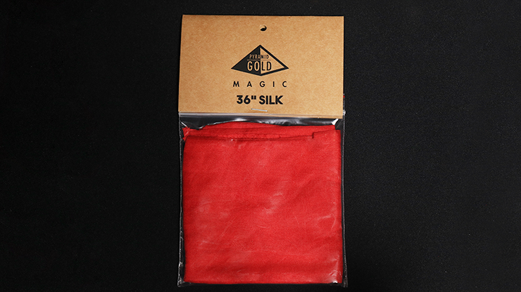Silk 36 inch (Bright Red) by Pyramid Gold Magic