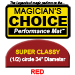 Super Classy Close-Up Mat (RED, 34 inch) by Ronjo - Trick