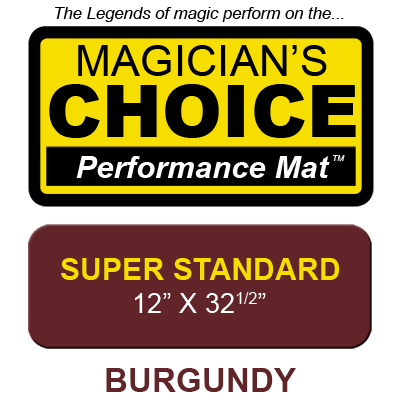 Tapete Magia Close-Up Bartenders Choice (BURGUNDY Super Standard - 30.48 x 82.55 cm) - Ronjo