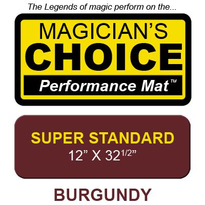 Tapete Magia Close-Up Bartenders Choice (BURGUNDY Super Standard - 30.48 x 82.55 cm) - Ronjo