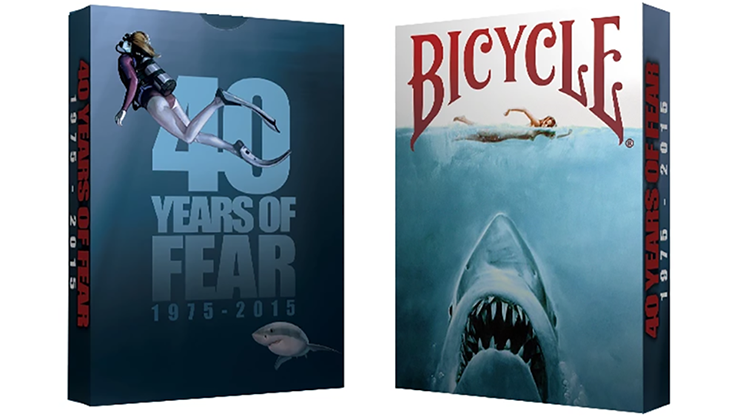 Cartas Bicycle 40 Years of Fear Jaws Playing Card - Crooked Kings