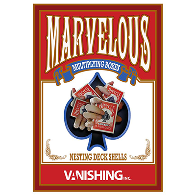 Marvelous Multiplying Card Boxes (Gimmick & DVD) - Matthew Wright & Vanishing Inc