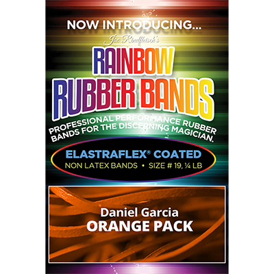 Joe Rindfleisch's Rainbow Rubber Bands (Daniel Garcia - Orange Pack  ) by Joe Rindfleisch - Trick