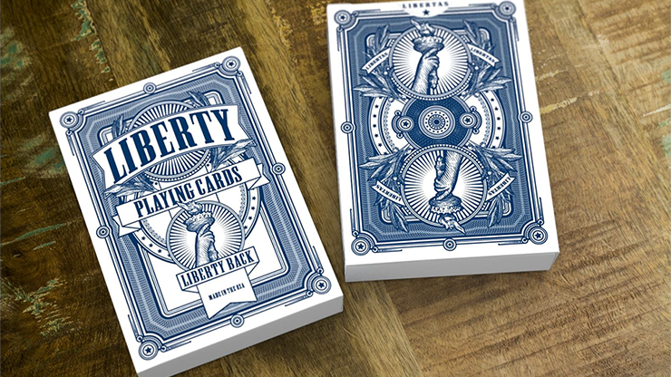 Liberty Playing Cards (Azul) - Jackson Robinson & Gamblers Warehouse