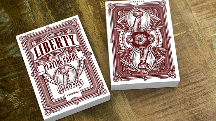 Liberty Playing Cards (Red) by Jackson Robinson and Gamblers Warehouse