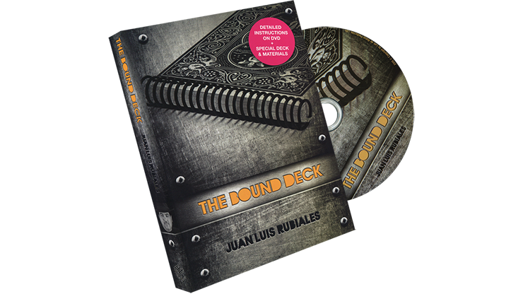 The Bound Deck DVD and Gimmick (Blue) by Juan Luis Rubiales and Luis de Matos