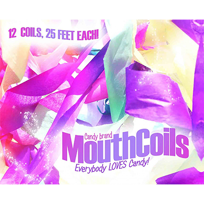 Mouth Coils 25 foot (Rainbow) by Candy Brand - Trick